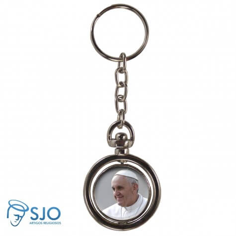 Chaveiro Redondo Giratório - Papa Francisco
