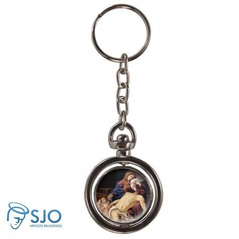 Chaveiro Redondo Giratório - Nossa Senhora da Piedade