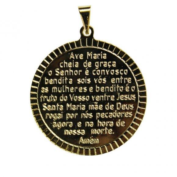 Pingente Ave Maria Folheado