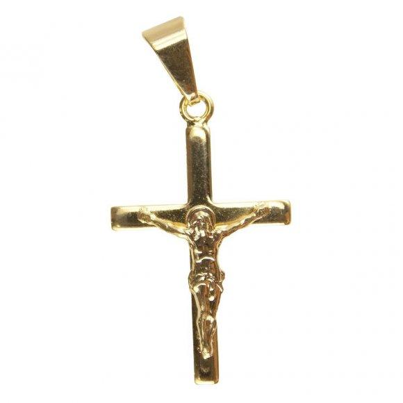 Pingente de Crucifixo Folheado a Ouro - 3,5 cm