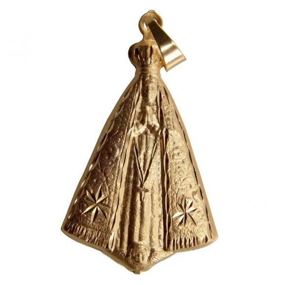 Pingente de Nossa Senhora Aparecida Folheado a Ouro