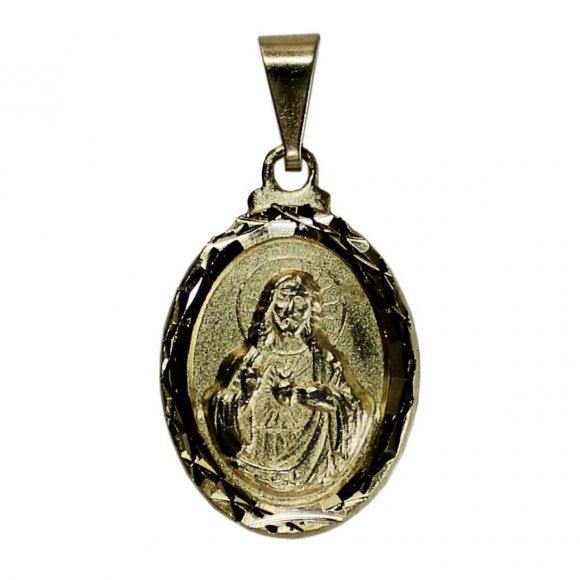 Pingente Oval Sagrado Coração de Jesus