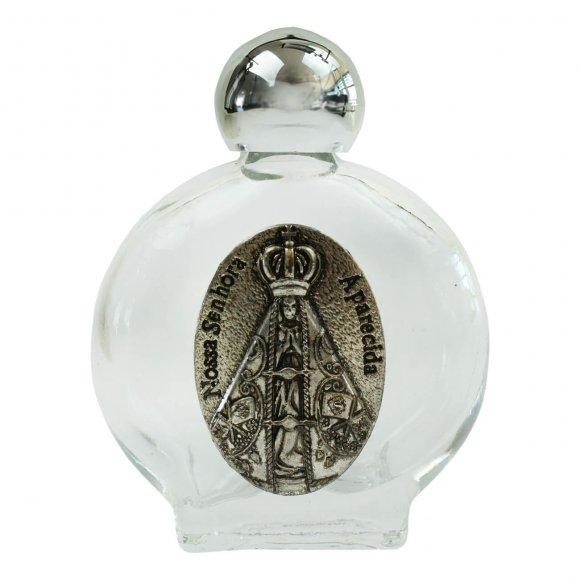 Porta Água Benta com Medalha de Nossa Senhora Aparecida - 5 cm