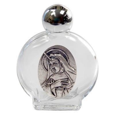 Porta água benta com medalha de Santa Rita - 5 cm
