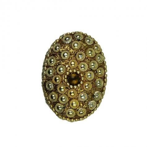 Porta-Joia Médio Oval Dourado