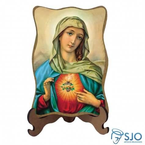 Porta-Retrato Sagrado Coração de Maria - Modelo 1
