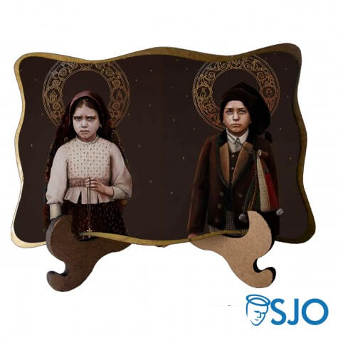 Porta-Retrato Santa Jacinta e São Francisco Marto