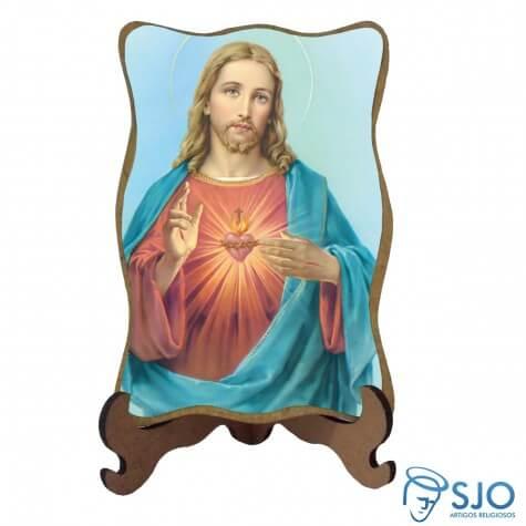 Porta-Retrato Sagrado Coração de Jesus - Modelo 3