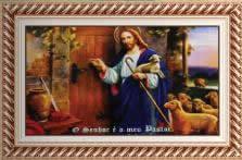 Quadro Religioso Bom Pastor - 70 cm x 50 cm