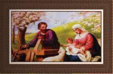 Quadro Religioso Jesus, Maria e José - 70 x 50 cm