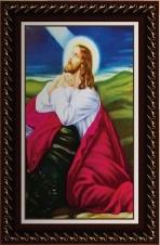 Quadro Religioso Jesus Orando - 70 x 50 cm