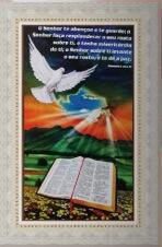 Quadro Religioso Texto Bíblico - 70 x 50 cm - Mod. 2