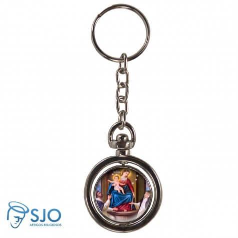 Chaveiro Redondo Giratório - Nossa Senhora do Rosário