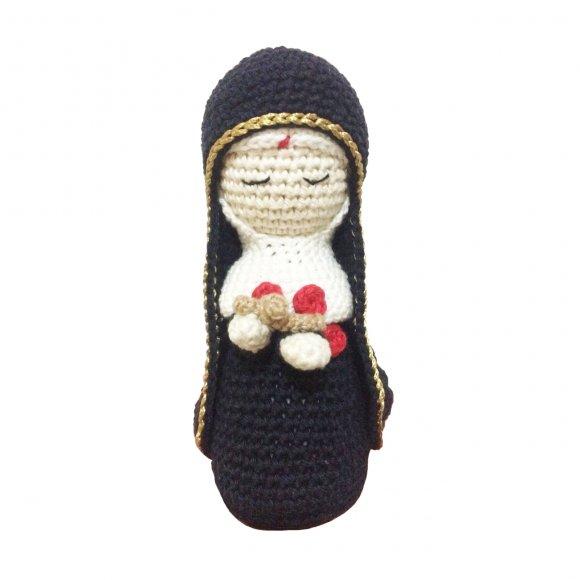 Boneco de Crochê - Santa Rita de Cássia