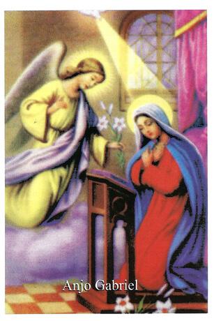 Santinhos de Oração Anjo Gabriel