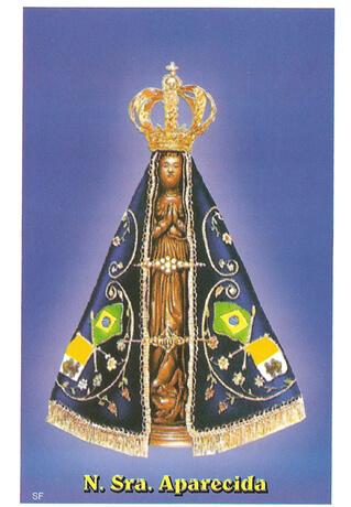 Santinhos de oração Nossa Senhora Aparecida