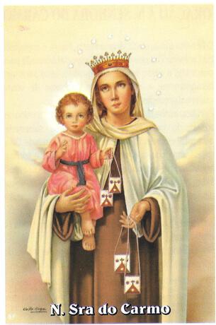 Santinhos de oração Nossa Senhora do Carmo