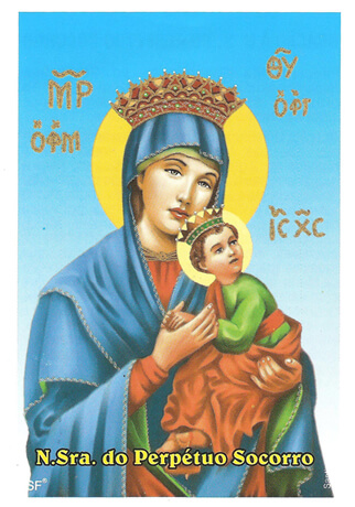 Ref: SANTINHO37 | Santinhos de Oração Nossa Senhora do Perpétuo Socorro