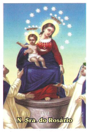 Santinhos de Oração Nossa Senhora do Rosário