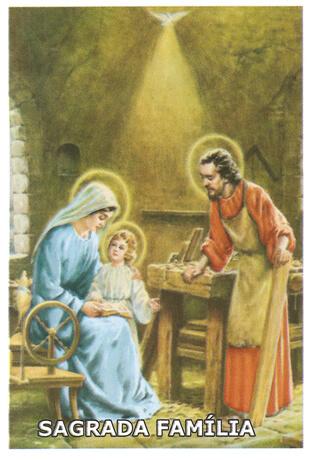 Ref: SANTINHO38 | Santinhos de Oração Sagrada Família