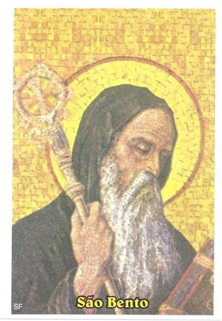 100 Santinhos De Oração São Bento