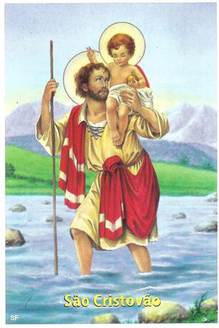 Santinhos de Oração São Cristóvão