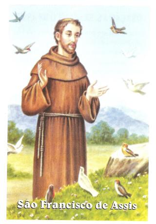 Santinhos de Oração São Francisco de Assis