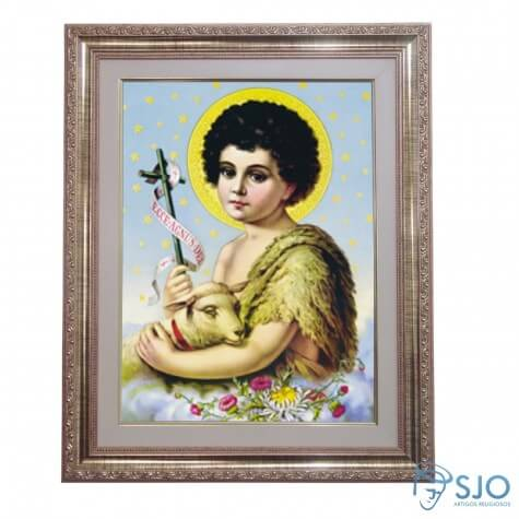 Quadro - São João Batista - 52 cm x 42 cm