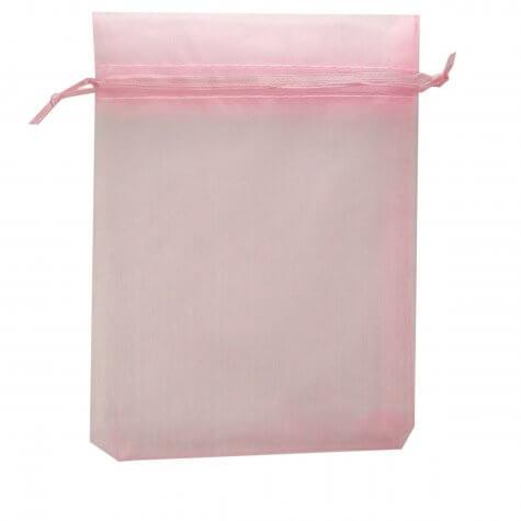 Saquinho de organza 12 x 16 Rosa