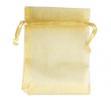 Saquinho de Organza 7 x 9 - Amarelo