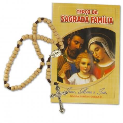 Terço com folheto Sagrada Família
