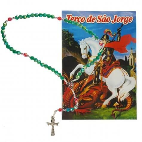 Terço com folheto São Jorge