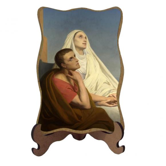 Porta-Retrato Santa Mônica e São Agostinho - Modelo 1