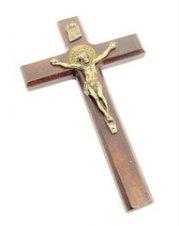 Imagem - Crucifixo de São Bento de Porta e Parede 12 cm (Cruz de Libertação) cód: 6100