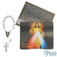 Imagem - 50 Cartões com Mini Terço de Jesus Misericordioso cód: 10193579