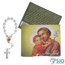 Imagem - Cartão com Mini Terço de São José cód: 16597136
