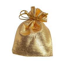 Imagem - 100 Saquinhos de Organza 6 x 8 Dourado cód: 16594991-19
