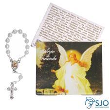 Cartão com Mini Terço do Anjo da Guarda