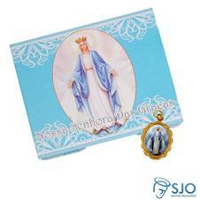 Cartão com Medalha de Nossa Senhora das Graças
