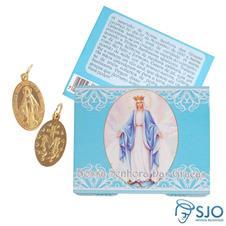 Cartão de Nossa Senhora das Graças com Medalha Milagrosa
