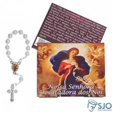 100 Cartões com Mini Terço de Nossa Senhora Desatadora dos Nós