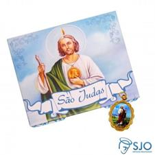Imagem - 50 Cartões com Medalha de São Judas Tadeu cód: 10590391