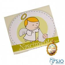 Imagem - 50 Cartões com Medalha de Nascimento cód: 15747086