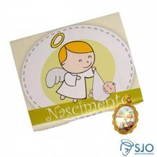 Imagem - 100 Cartões com Medalha de Nascimento cód: 15037956