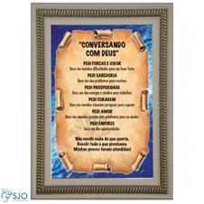 Imagem - Quadro Religioso Conversando com Jesus - 70 x 50 cm cód: 10398676