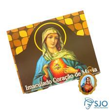 Cartão com Medalha do Imaculado Coração de Maria