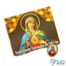 100 Cartões com Medalha do Imaculado Coração de Maria