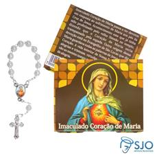 Imagem - Cartão com Mini Terço do Imaculado Coração de Maria cód: 13882066