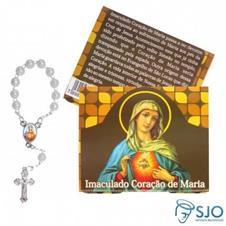 50 Cartões com Mini Terço do Imaculado Coração de Maria