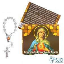 100 Cartões com Mini Terço do Imaculado Coração de Maria